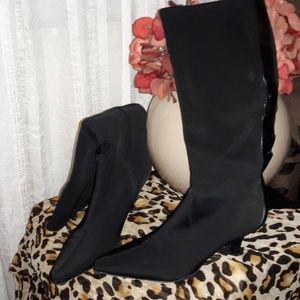 EUC..Nine West fabric black boots